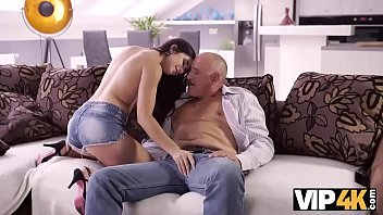 VIP4K. Muscled old gentleman Bruno s. with dazzling hottie 10 min
