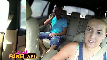 Female Fake Taxi Busty sexy driver milks studs cock 11 min