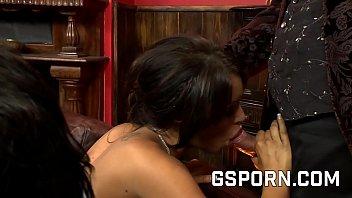 Gemma Massey and Ella May and Samy Jay in hot orgy