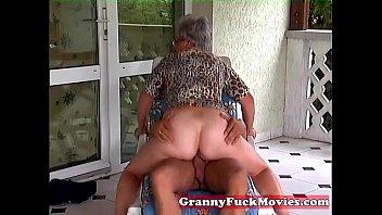 Outdoor fucking grandma 5 min