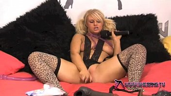 Shebang.TV - Horny blonde slut Bonnie Rose playing with her toys