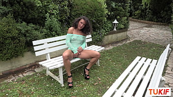French Beurette Neska Gets Lifted By Two Guys In The Middle Of A Park In Double Penetration