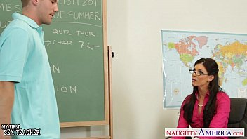 Tiny tits glasses Tiny titted teacher india summer fuck her young student