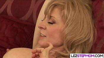 Spreading her legs for her horny stepmom