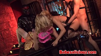 Nasty Group Sex with Babes in Sexy Latex Outfit