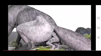 Wolf anal vore