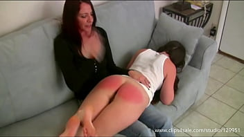 Annabelle Hand Spanked Over Moms Lap (Preview)