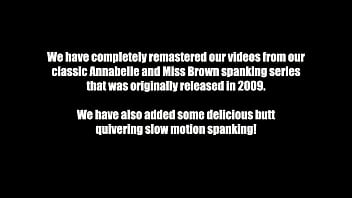 Annabelle Hand Spanked Over Moms Lap (Preview) thumbnail