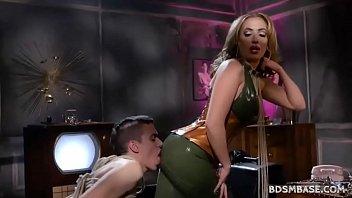 Latex Mistress Richelle Ryan Spanks Guy