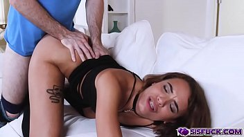 Stepsis Eve ELlwood rammed from behind by her stepbros dominating cock!