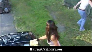 Rough catfight at a carwash thumbnail