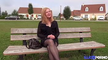 Married Woman Marta Fucks A Big Cock Teen In The Garden