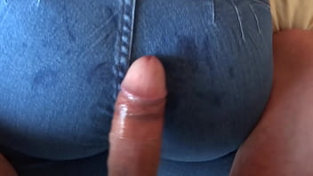 The maid's son enjoys the ass of my mature wife, 58-year-old hairy mother, he passes his cock up her big ass, he jerks her off and she asks him to fuck her hard