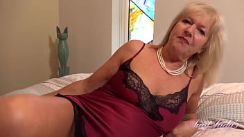 AuntJudys - 64yr-old British GILF Louise Jerks You Off & Sucks Your Cock