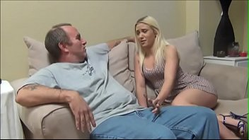 Daddy and blonde beauty
