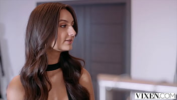 VIXEN Naughty salesgirl Eliza models lingerie for customer 13 min