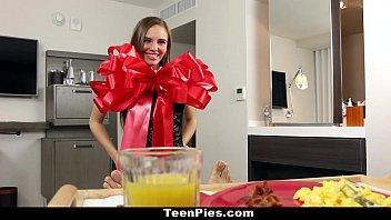 TeenPies - Brunette GF (Skye West) Gets Creampied For Breakfast 10 min