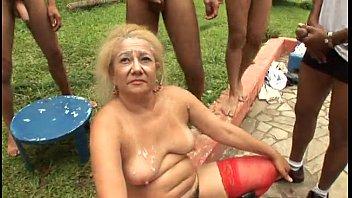 Brazillian Gangbang Granny pornhub video