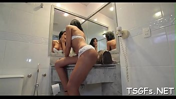 Free tranny ass rimming Frisky shemale involved into a crazy rimming session