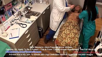 Mixed Cutie Carol Cummings Gets Annual Gyno Exam by Doctor Tampa & Nurse Misty @ GirlsGoneGynoCom