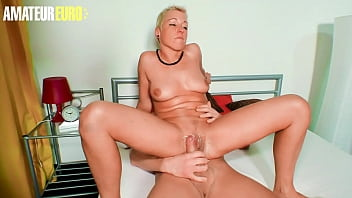 AMATEUR EURO - Mandy Mystery - German Babe Rides Her Man Like A Pro