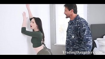 Army dads punish the spoilt bratty daughters!