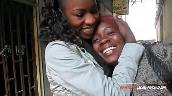 Stunning Ebony Lesbian Teens In Toilet