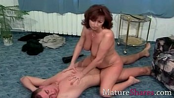 Natural hairy mature gets long fuck