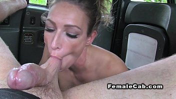 Females in divice bondage Inked taxi driver deep throats in her fake cab