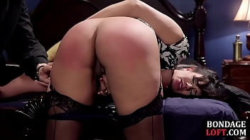 Submissive sluts spanked and whipped until red raw