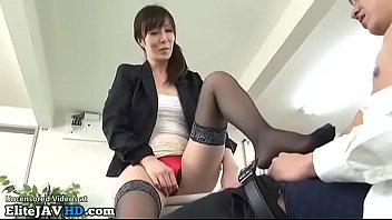 Japanese Office Lady Welcomes New Coworker