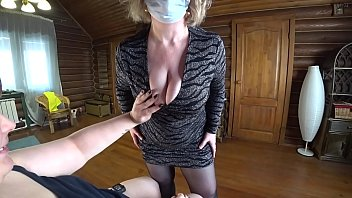 Deep fisting in hairy pussy. Mature lesbian in a medical glove fucked a fat milf doggystyle. Fetish pov.