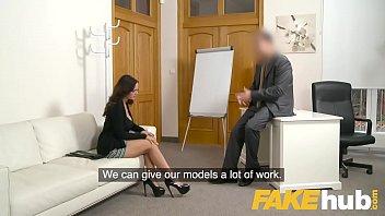 Fake Agent Spunk loving tattooed Spanish babe Claudia Bavel in sex casting thumbnail