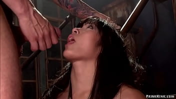 Big ass Asian anal fucked in bondage 5 min
