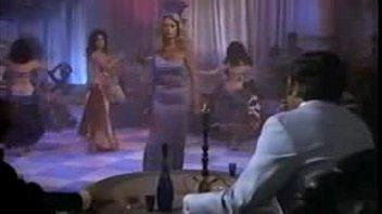 blonde woman doing a striptease 3 min