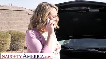 Naughty America Elle McRae cheats on husband with manly neighbor