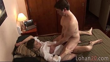 Twink fucks his older neighbor after classes