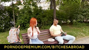 BITCHES ABROAD - Sexy ginger babe Gisha pussy fucked hardcore abroad