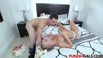 Bailey Brooke gets punished by stepdad
