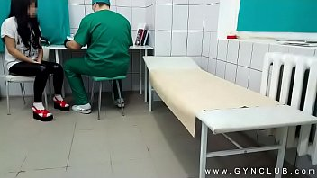 Dirty examined on the gynecological chair