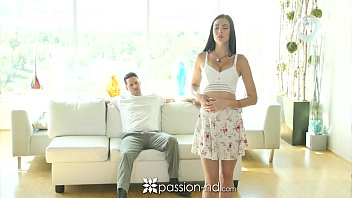 Passion-HD - Brunette Marley Brinx pounded by dick on the couch thumbnail