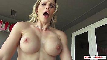 Fucking My Busty Blonde MILF Stepmother In The Backyard