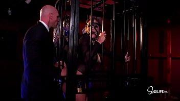 Sex Monsters - Kissa Sins, Johnny Sins and Lily Lane Threesome 35 min