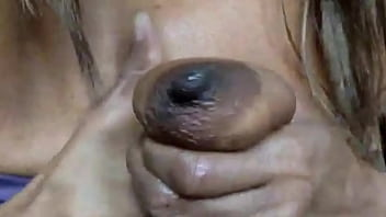 Milky MILF Ginger MoistHer squeezing milk from saggy tits (short vid)