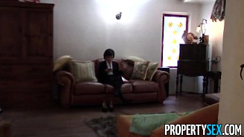 PropertySex - Cute real estate agent makes dirty POV sex video with client thumbnail
