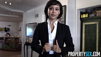 PropertySex - Cute real estate agent makes dirty POV sex video with client porno izle
