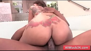 Ebony gets her big butt fucked by a BBC -  Prince Yahshua & Halle Hayes