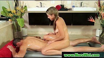 Nuru Massage With Happy Client And Busty Babe 14