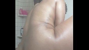 LolaBug Rides Dildo in BnB Bathroom