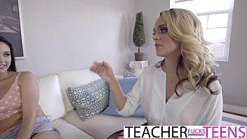 MILF Teacher Gets Hot Teen Pussy And Cock